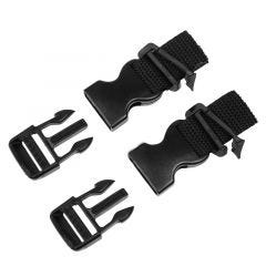 "A&R 1"" Quick Release Buckle w/Slick Clip - Pair"