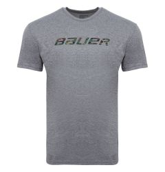 Bauer Hockey Camo Logo Short Sleeve Tee Shirt