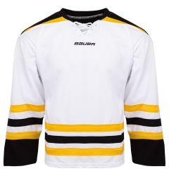 Bauer 800 Series Senior Hockey Jersey - White/Black/Gold