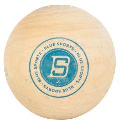 Blue Sports Wooden Stickhandling Ball
