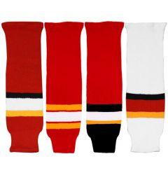 CCM S100 Calgary Flames Knit Hockey Socks