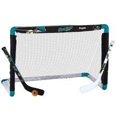 San Jose Sharks Franklin NHL Mini Hockey Goal Set
