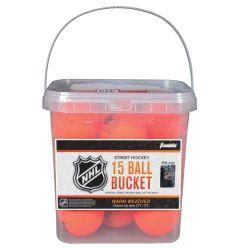 Franklin High Density Street Hockey Ball Bucket - 15 Pack