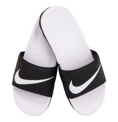 Nike Women's Benassi Solarsoft Slide 2 Sandal - Black/White