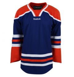 Edmonton Oilers Reebok Edge Uncrested Junior Hockey Jersey
