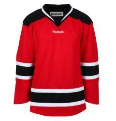 New Jersey Devils Reebok Edge Uncrested Junior Hockey Jersey