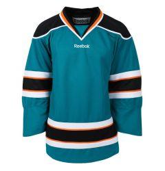 San Jose Sharks Reebok Edge Uncrested Junior Hockey Jersey (Old)