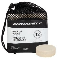 Winnwell White Goalie Training Puck - 12 Pack