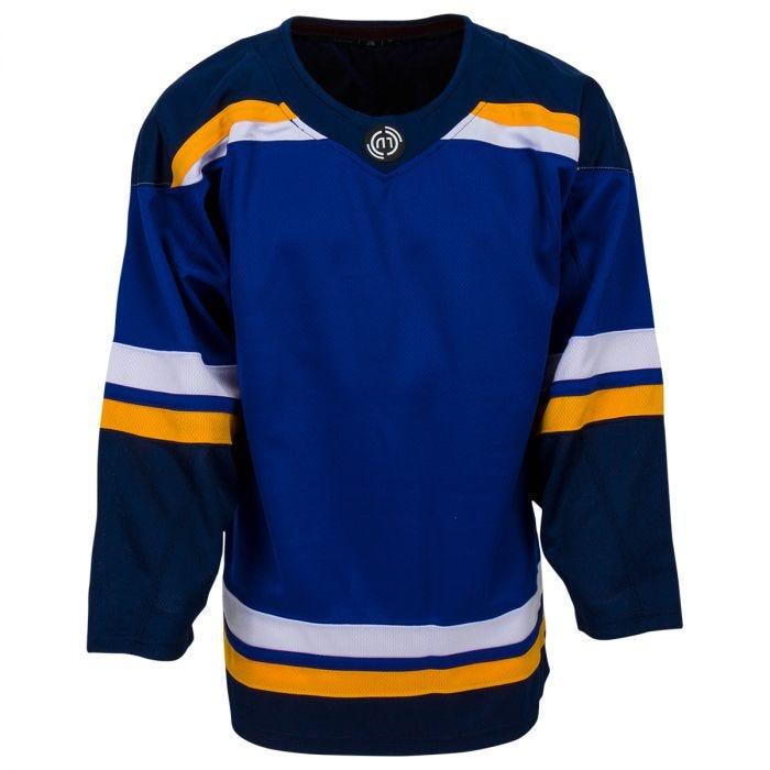 blue and yellow hockey jersey