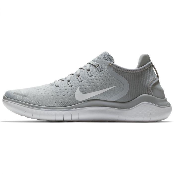 Nike Free RN 2018 Men's Running Shoes - Wolf Grey/White/Volt