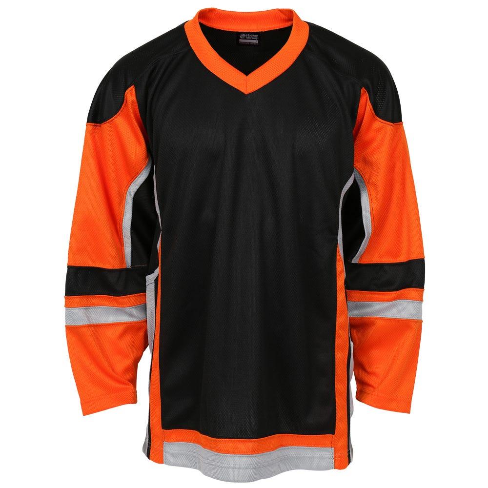 Black And Orange Hockey Jersey