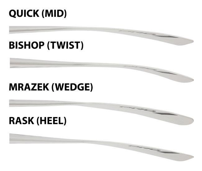 warrior goalie stick blade chart 2016