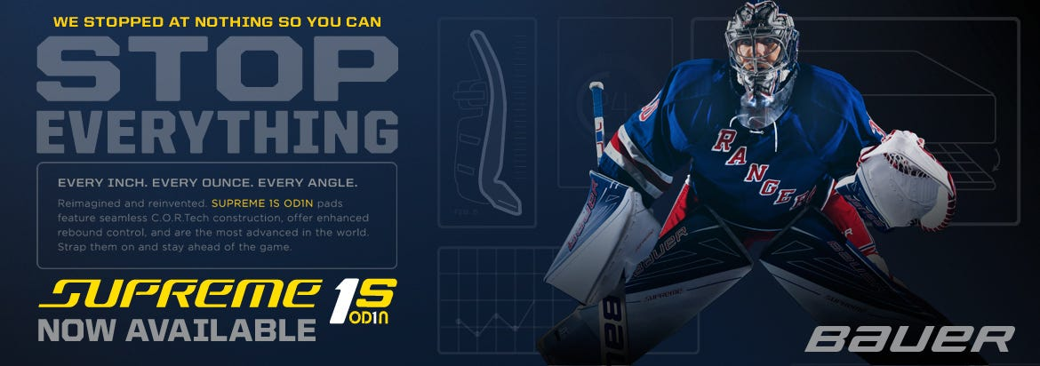 Bauer Supreme 1S OD1N Goalie Equipment