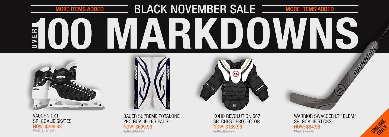 Black November Goalie Sale