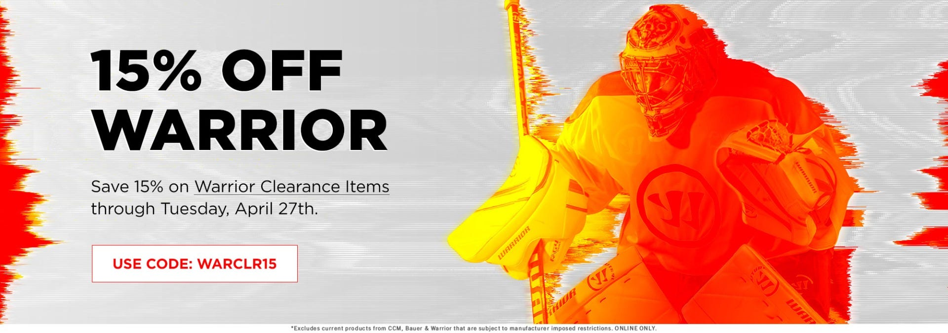 Warrior Clearance Sale: Take an additional 15% off