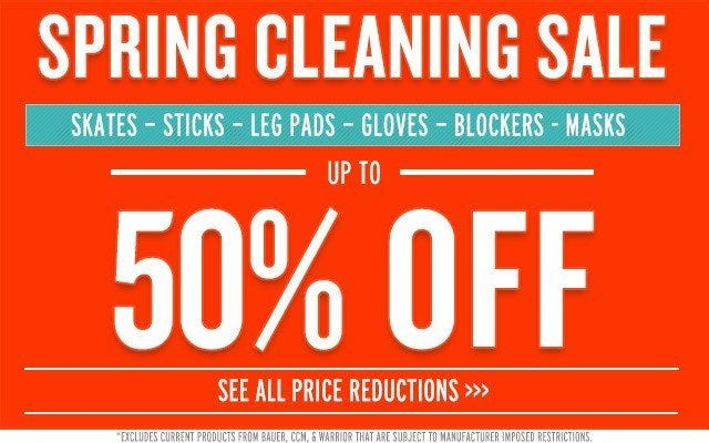 GoalieMonkey Spring Cleaning Sale
