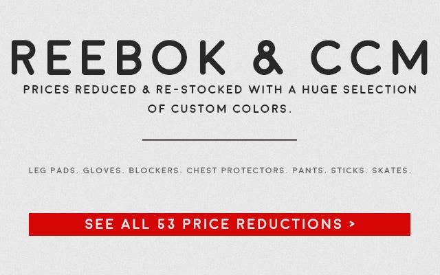 Reebok CCM Hockey Goalie Price Reductions